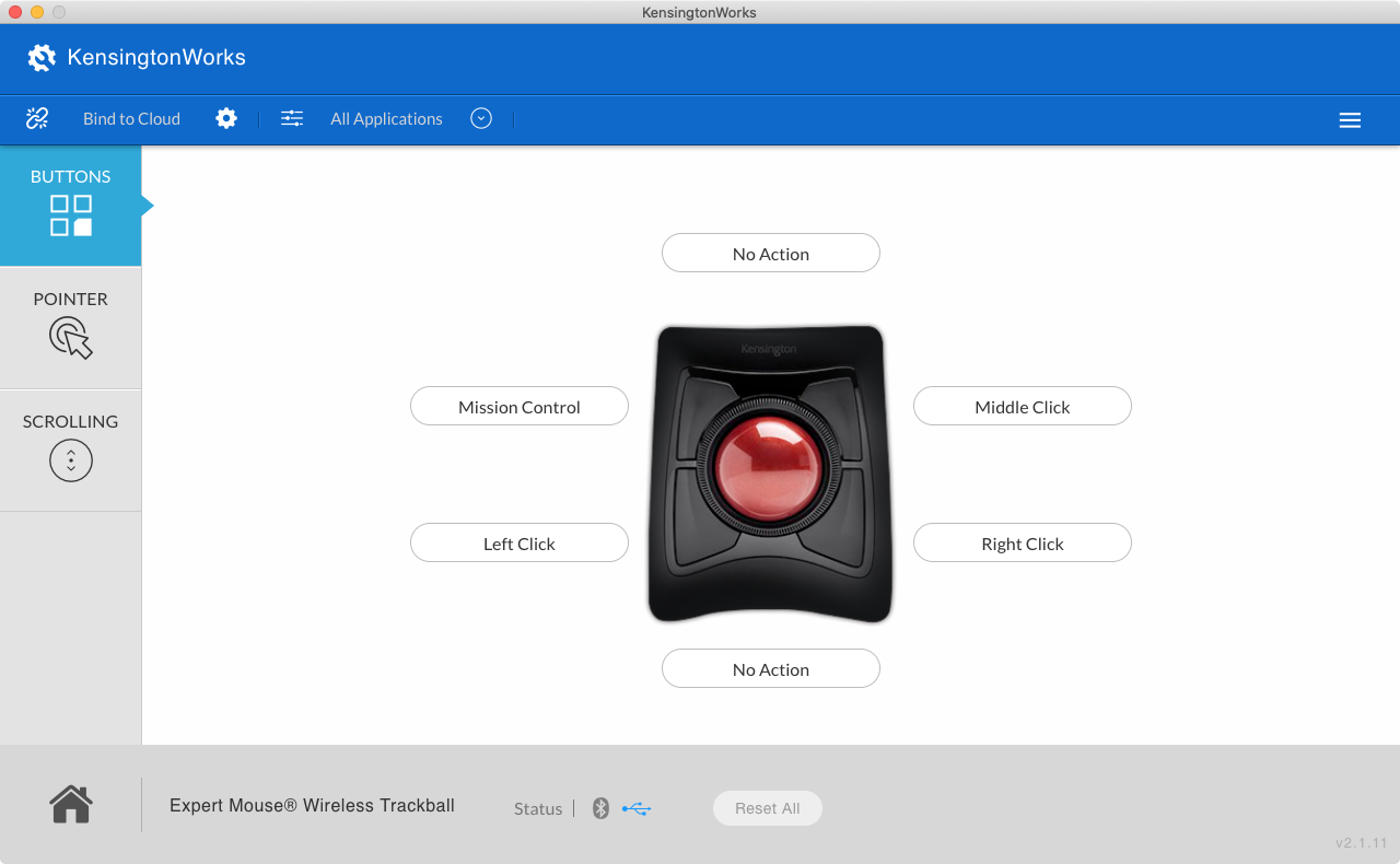 KensingtonWorks Trackball Personalization Screen